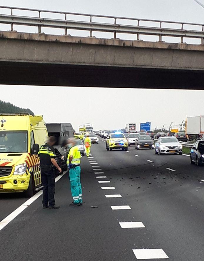 Ongeval op de A15 bij Wadenoijen