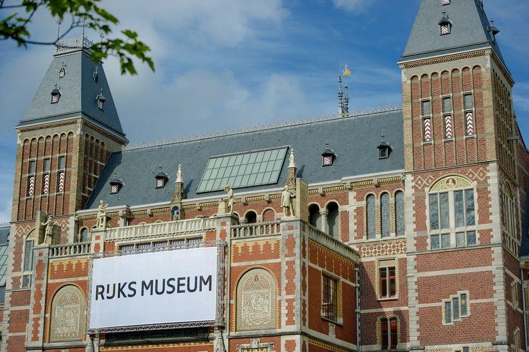 Het logo van het Rijksmuseum kreeg een spatie toebedeeld. Beeld anp