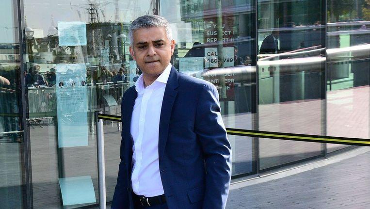 De nieuwe burgemeester van Londen, Sadiq Khan. Beeld afp
