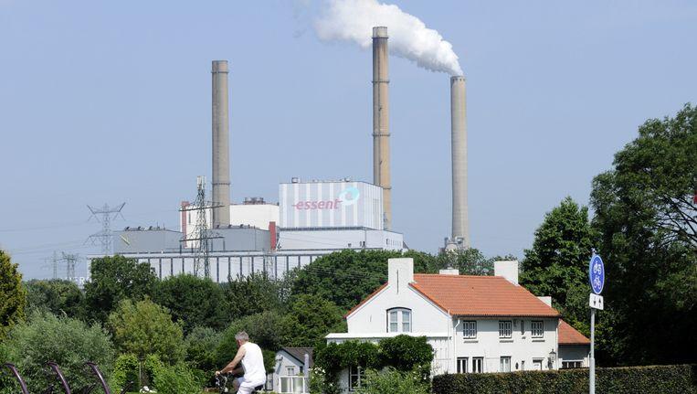 De Amercentrale, een kolengestookte elektriciteitscentrale van Essent RWE in de gemeente Geertruidenberg. Beeld Hollandse Hoogte