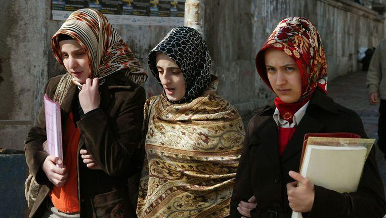 Studentes in Istanboel. Beeld AFP