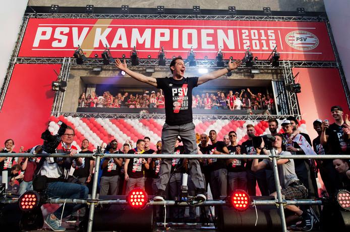 Andrés Guardado en het hoogtepunt bij PSV: de titel in seizoen 2015-2016.