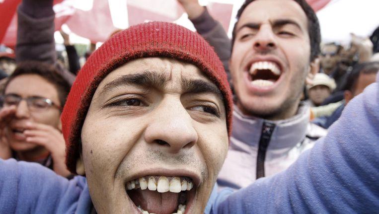 Eind november werden er demonstraties gehouden tegen de islamitsche regeringspartij Ennahda. Beeld null