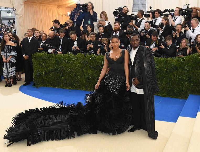 Sean Diddy Combs en Cassie op het Met Gala in New York. Beeld anp