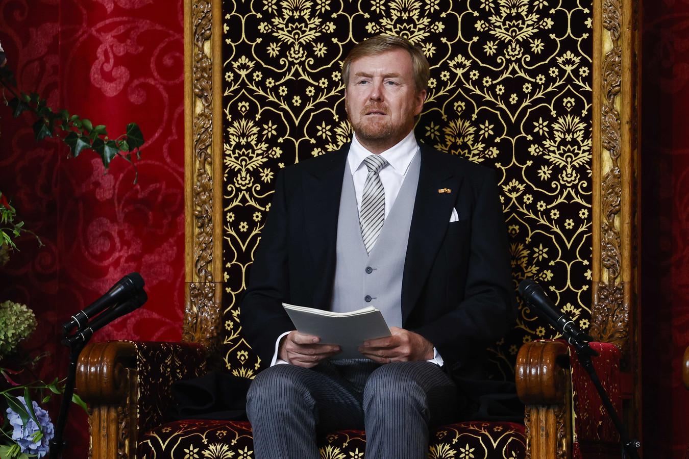 Koning Willem-Alexander leest de troonrede voor op Prinsjesdag