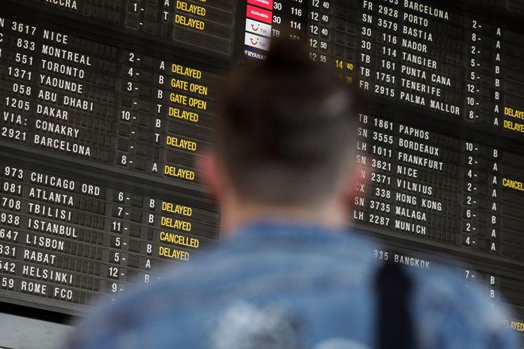 De staking van Skeyes op 16 mei stuurde het vliegverkeer op Brussels Airport in de war.