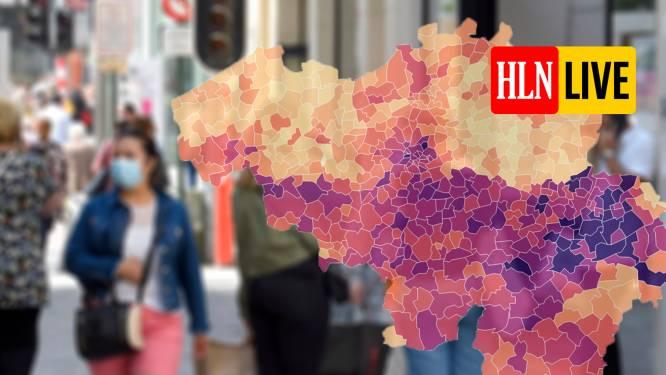 IN KAART. Grootste stijgingen in West-Vlaanderen, Luik nadert piek van april. Bekijk hier de situatie in uw regio