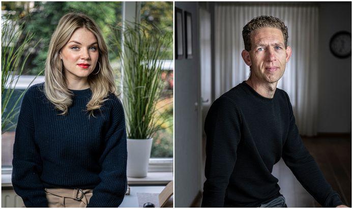 Suzanne van Schaik (l.) en Gillis Kodde kregen RSI.
