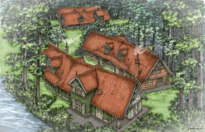 De schetsen van de nieuwe huizen in Bosrijk.