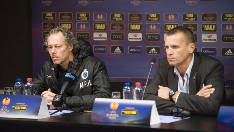 Klaus Van Isacker, hier naast Michel Preud'homme