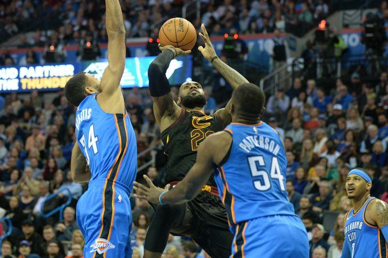 LeBron James legt aan in Oklahoma City.