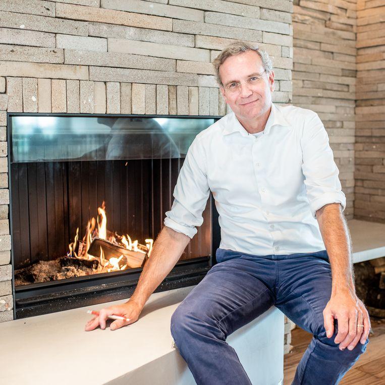 Directeur Volkert Engelsman ( ook bekend als 'Robin Food') in het nieuwe gebouw van Eosta, het bedrijf dat hij in 1990 oprichtte. Beeld Simon Lenskens
