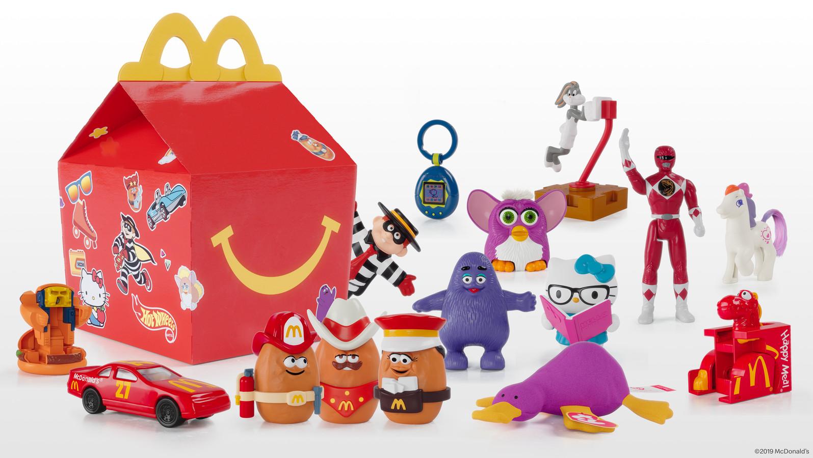 De speeltjes van Happy Meal zorgen voor nostaligische gevoelens.