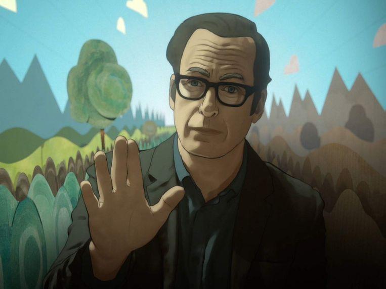 Bob Odenkirk, nagetekend, in de serie Undone Beeld Amazon