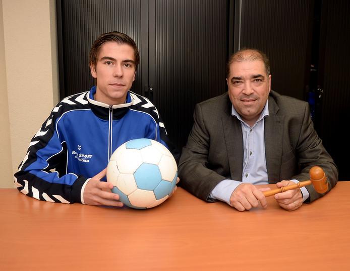 Vader Cor Geelhoedt is voorzitter van Altena en de zoon Julian Geelhoedt is speler van Altena 1.