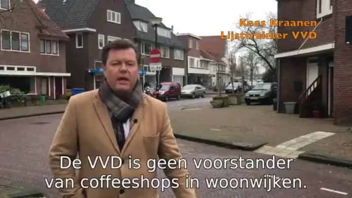 De VVD in beeld: kort, 'snappy' en modern.