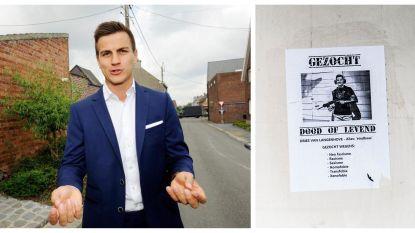 Affiches met doodsbedreigingen: Dries Van Langenhove dient klacht in