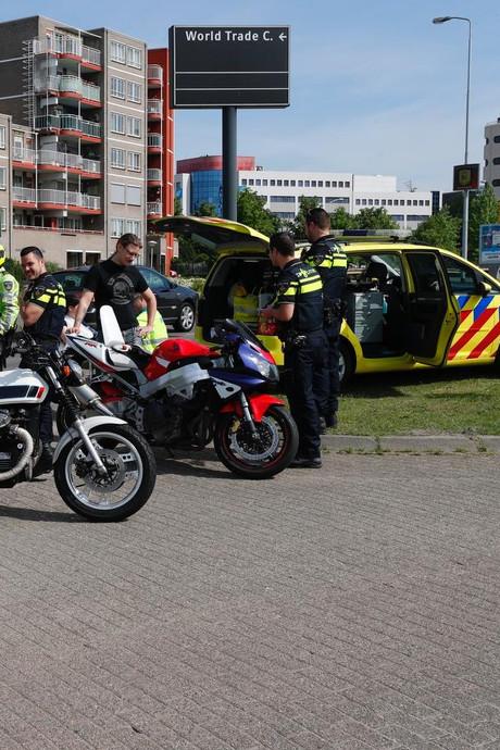 Motorrijders onderuit in tunnel in Eindhoven