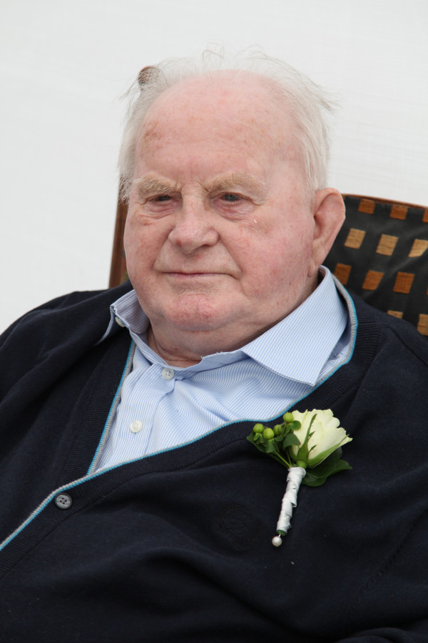 Piet de Haas in 2014, bij de viering van zijn 60-jarig huwelijk met echtgenote Corry.
