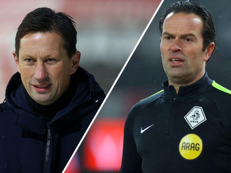 PSV-trainer Schmidt is klaar met scheidsrechter Nijuis: 'Hij denkt iets speciaals te moeten doen'