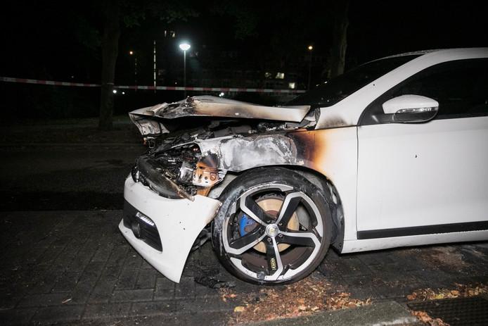 De brandschade aan de auto in het Nijmeegse Hatert.