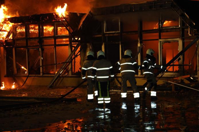 Brand aan de Germenzeel in Uden.
