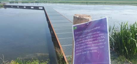 Eénrichtingsverkeer voor wandelaars in Nieuwe Dordtse Biesbosch