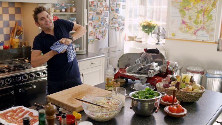 Kok Jeroen Meus in de keuken van 'Dagelijkse Kost'.