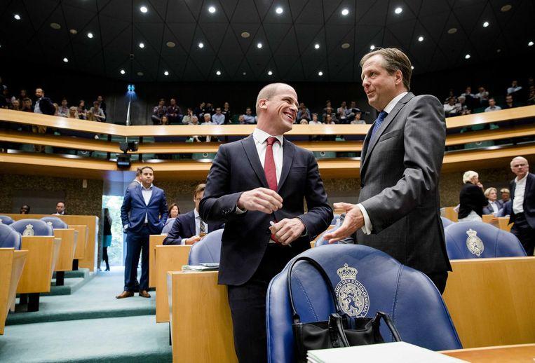 PvdA'er Samsom en D66'er Pechtold in de Kamerbankjes. Beeld anp