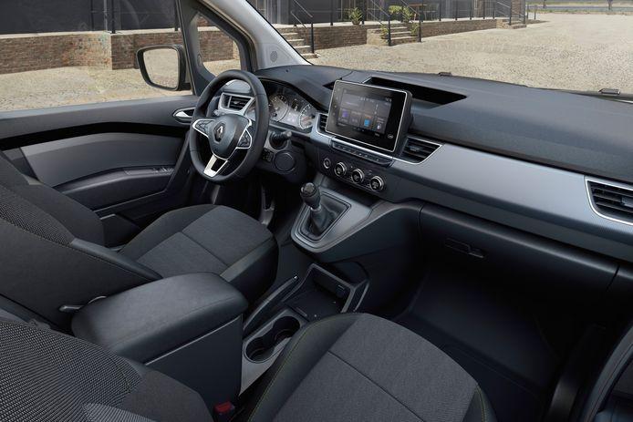 Luxere materialen en een hoog scherm: het interieur van de nieuwe Renault Kangoo