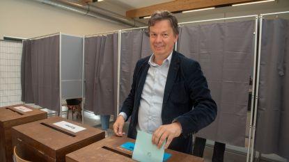 Stefaan Van Hecke (Groen) brengt stem uit in Melsen