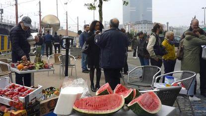 Protest tegen nieuw metrostation in Zuidlaan