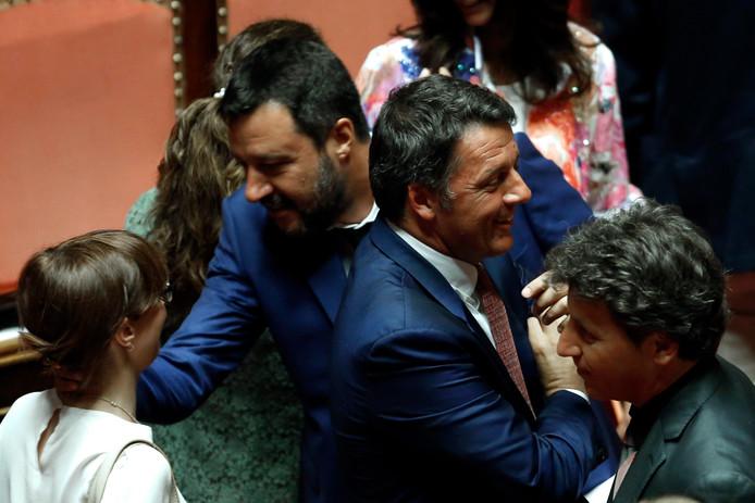 Les deux Matteo: Salvini et Renzi.