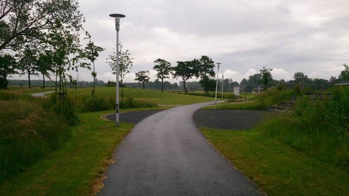 Het park waar de deurtjes van de lantaarnpalen zijn gehaald.