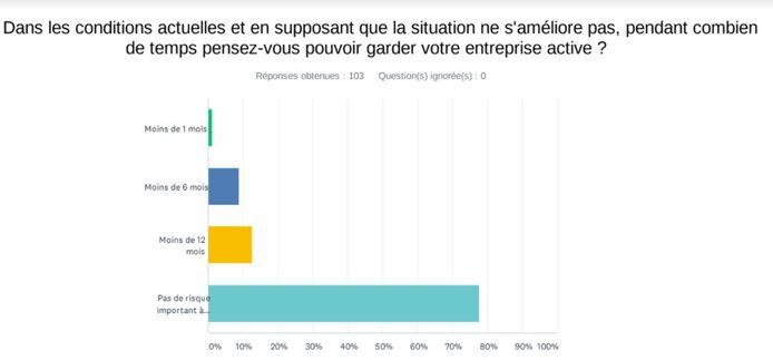 Estimation de survie des entreprises de Charleroi après la première vague du coronavirus