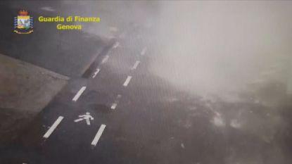 Nieuwe beelden tonen instorting brug in Genua