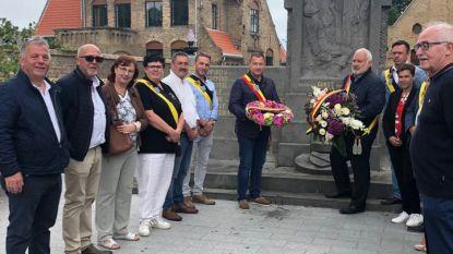 Glabbeek en Middelkerke houden bloemenhulde aan graf soldaat Jeroom Roye