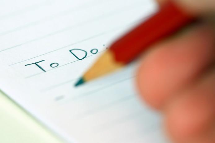 Tip: Maak een to-do-lijst, zo houd je overzicht ... Nee????!!!! Serieus? Een to-do-lijst? Oh my god. Daar was ik nooit opgekomen.