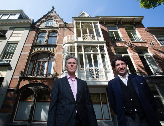 Rob van Kan (links) en Simon Mulder, organisatoren van het Art Nouveau festival dat begin juni plaatsvindt.