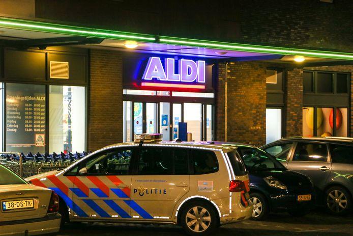 De Aldi aan het Admiraalsplein in Dordrecht werd vorige maand overvallen.