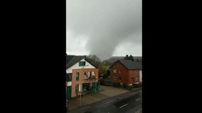 VIDEO. Tornado houdt huis in Eifeldorpje vlak over de grens