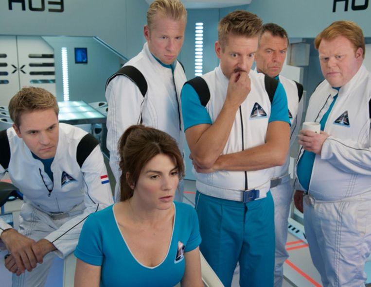 Tv-serie Missie Aarde, met Kim van Kooten. Beeld