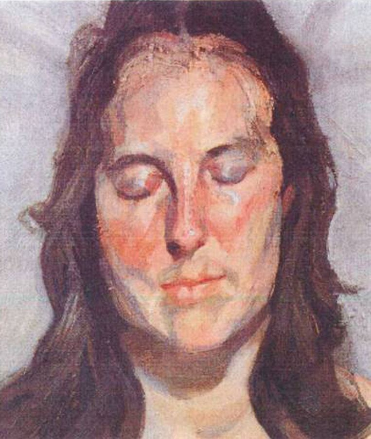 null Beeld Lucian Freud 'Woman with Eyes Closed' (2002)
