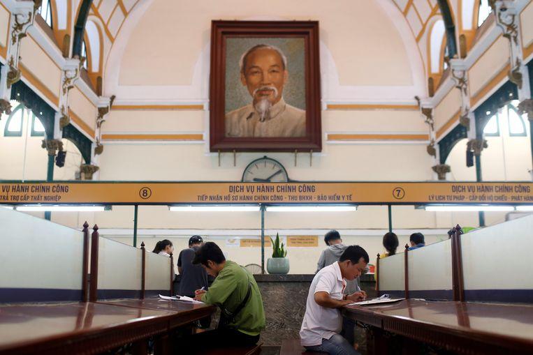 Het lichaam van Ho Chi Minh werd kort na zijn dood in 1969 door Russen gebalsemd en in 1975 in het mausoleum geplaatst.
