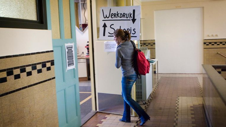 Aula in een school in Den Haag. Beeld getty
