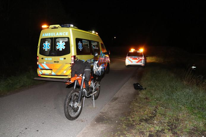 Bij het ongeluk was een motor betrokken
