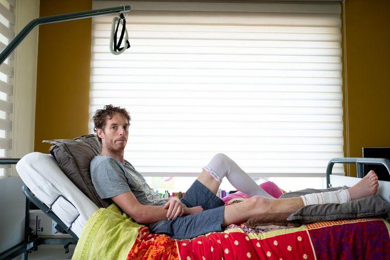 Peter Scheers liep een dubbele open beenbreuk op en mag zijn voet niet bewegen tot half juni.