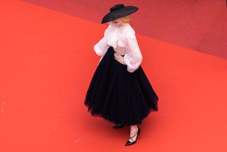 Elle Fanning in een look van Christian Dior.