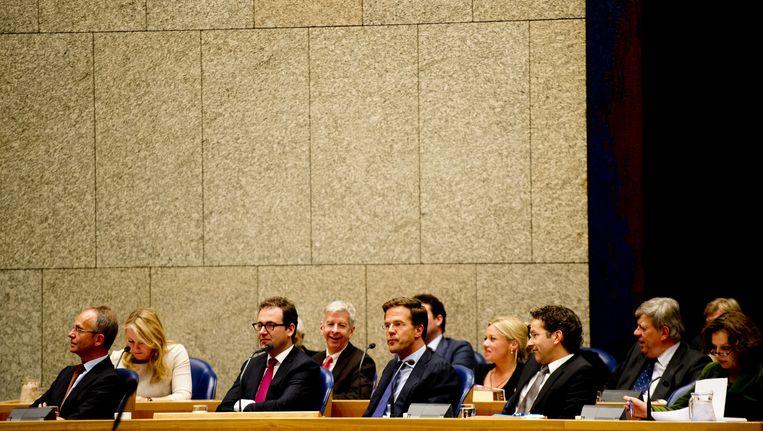 Rutte II in de Tweede Kamer. Beeld ANP