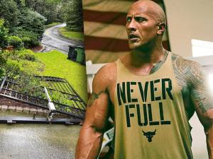 Dwayne Johnson arrache son portail à mains nues